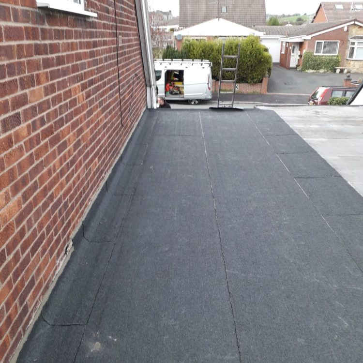 New Felt Roof in Kidsgrove, Stoke on Trent